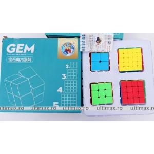 Set 4 Cuburi  ShengShou - Seria GEM 2x2, 3x3, 4x4, 5x5